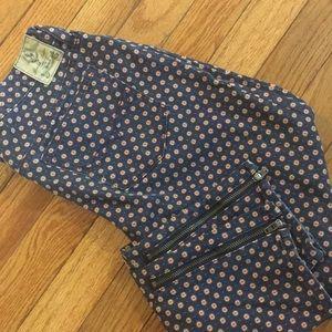 Ralph Lauren skinny jeans zipper ankle